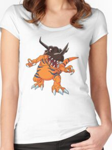 Digimon - Greymon Women's Fitted Scoop T-Shirt