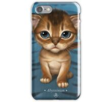 Cat-a-clysm: Abyssinian kitten, blue tiger pattern. iPhone Case/Skin