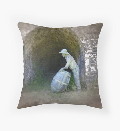 Lime kiln worker  Throw Pillow