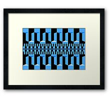Black Blue Black Framed Print