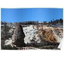 Liberty Cap. Mammoth hot springs Poster