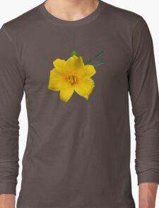 Yellow Daylily Flower Art Long Sleeve T-Shirt
