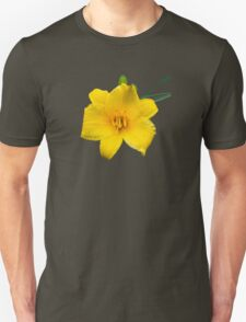 Yellow Daylily Flower Art Unisex T-Shirt