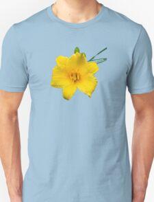 Yellow Daylily Flower Art T-Shirt