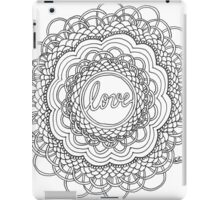 Zentangle Mandala Love Black & White iPad Case/Skin