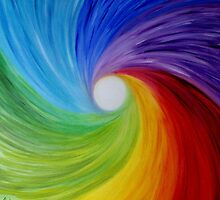 "Fine art. Abstract painting. Oil.""Rainbow MOOD"" :) by RainbowBee"