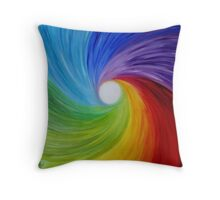 "Fine art. Abstract painting. Oil.""Rainbow MOOD"" :) Throw Pillow"