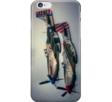 North American P-51 Mustangs iPhone Case/Skin
