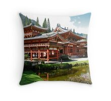 Peace and Serenity, Byodo In Temple, Hawaii Throw Pillow