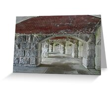 Through these halls - Fort Popham, Maine Greeting Card
