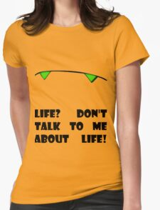 Marvin the Android's vision of life Womens Fitted T-Shirt