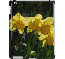 Sunny, Windy Spring Garden with Daffodils iPad Case/Skin