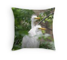 Young Egrets 271 Throw Pillow