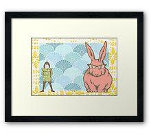 What rabbit? Framed Print