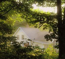 Cottage Engulfed in Sunrays by Patty Gross