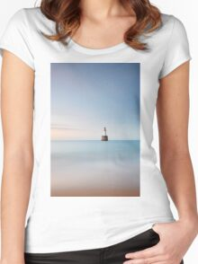 Lighthouse Blues Women's Fitted Scoop T-Shirt