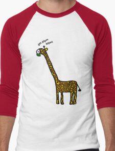 Om nom nom Men's Baseball ¾ T-Shirt