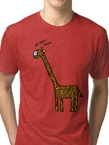 Om nom nom Tri-blend T-Shirt