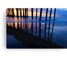 Oceanside Pier Sunset Canvas Print