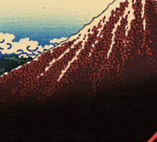 'Lightning Below the Summit' by Katsushika Hokusai (Reproduction) Sticker