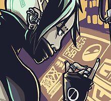Cyberpunk Hacker Girl by JamesGrimlee