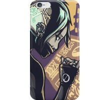 Cyberpunk Hacker Girl iPhone Case/Skin