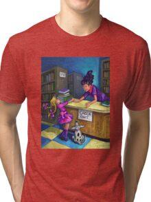Libary Check Out Tri-blend T-Shirt