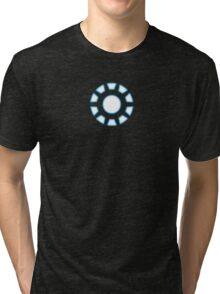 Arc Reactor from Iron Man Digital Design Tri-blend T-Shirt
