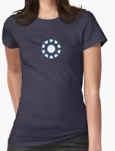 Arc Reactor from Iron Man Digital Design Womens Fitted T-Shirt