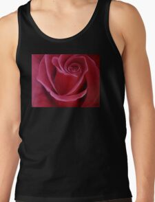 """Fine art. Rose """"Red PASSION"""". Oil painting. Nature. Flower. Tank Top"""
