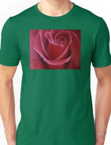 """Fine art. Rose """"Red PASSION"""". Oil painting. Nature. Flower. Unisex T-Shirt"""