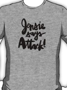 Jensie Says Attack! Red T-Shirt