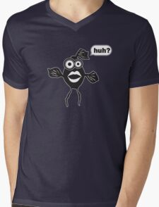 Huh? Mens V-Neck T-Shirt