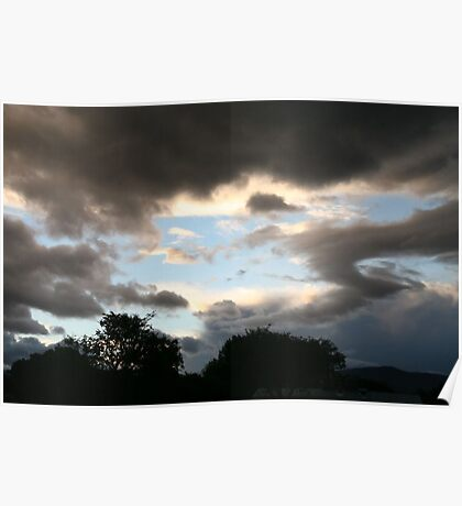 Threatening Clouds Poster