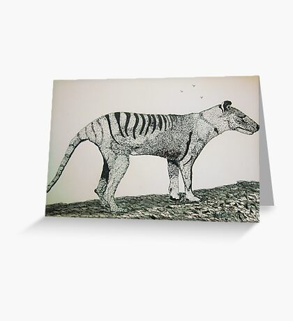 The Thylacine Greeting Card