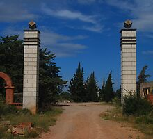 Rivesaltes3 - The Camp Entrance by Peter Reid