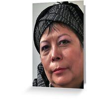 (596) Rosa with turban (card) Greeting Card