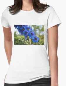 Sapphire Blues and Pale Greens - a Showy Delphinium T-Shirt