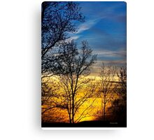 Hilltop Sunset Landscape Canvas Print