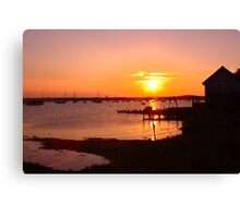 The last of a hot summers day  Canvas Print