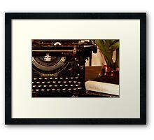 Underwood Typewriter - American Standard Framed Print