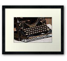Underwood Typewriter Frenzy Framed Print