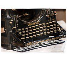 Underwood Typewriter Frenzy Poster