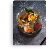 Summery fruit salad with mint and a sesame butterscotch - 2 Canvas Print