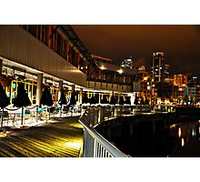 Water, Land, and Sky - Late Night Seattle Photographic Print