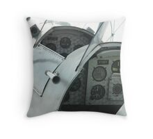 Twin cockpits of a bi-plane Throw Pillow