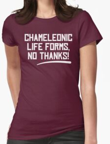 Chameleonic life forms - Dark Womens Fitted T-Shirt
