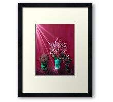 Pink and Red Floral Study Framed Print