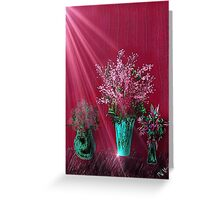 Pink and Red Floral Study Greeting Card