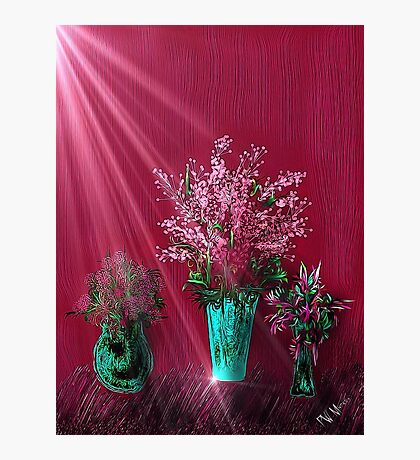 Pink and Red Floral Study Photographic Print